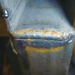 溶接からリベット構造へ変換しサビ発生を防止するbefore